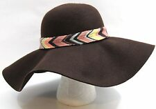 MISSONI for Target Brown Wool Wide Brim Felt Floppy Hat