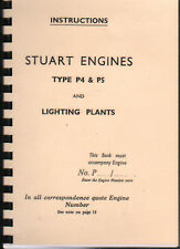 Stuart Type P4 & P5 Stationary Engine and Lighting Plants Operating Manual Book