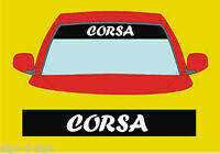 CORSA SUNSTRIP DECALS GRAPHICS STICKER choose any 2 colours from list