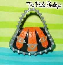 MONSTER HIGH TORALEI FASHION PACK OUTFIT REPLACEMENT ORANGE BLACK PURSE BAG ONLY