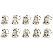 10pc Silver tone MOTORCYCLE BELLS Bike Ride Mount Guardian Gremlin Biker Design