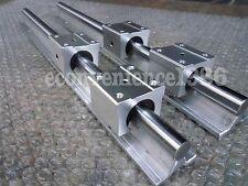 2 xSBR25-1850mm 25MM FULLY SUPPORTED LINEAR RAIL SHAFT& 4SBR25UU Rounter Bearing