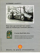 PUBLICITE ADVERTISING 114  1995  SHELL  huile HELIX  GRIS