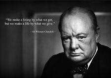Winston Churchill inspiradores / Motivacional citar Cartel fantástica (1)