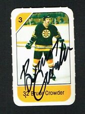 Bruce Crowder signed autograph auto 1982-83 Post Cereal NHL Hockey Card