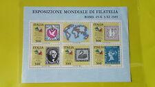 REPUBBLICA ITALIANA 1985 FOGLIETTO NUOVO ITALIA 1985 ESP.MOND. I CONTINENTI T100