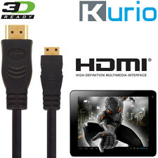 Kurio 7, 10 Kids Tablet Android PC Mini HDMI a HDMI TV 3M ORO Lead Wire Cable