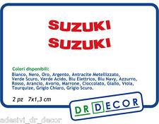 """Adesivo per Moto"""" Suzuki """" SBK Suzuki GSXR GSF Bandit Burgman 2 pz 7 x 1,3 cm"""
