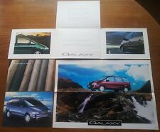 Very Rare 1996 Ford Galaxy Launch Brochure Poster Pack & Small Poster