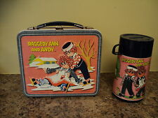*VINTAGE 1973 RAGGEDY AND & ANDY METAL LUNCH BOX & THERMOS *COLLECTIBLE*