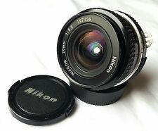 NIKON NIKKOR 20 MM F 3.5 AI-S MANUAL WIDE ANGLE MADE IN JAPAN LENS