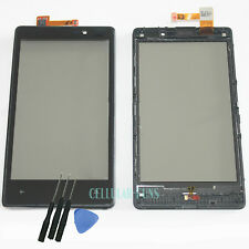 Touch Screen Digitizer Glass Panel +Frame For Nokia Lumia 820 N820