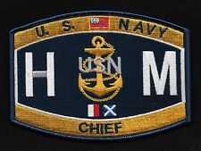 United States Navy CHIEF HOSPITAL CORPSMAN Ratings Patch - HMC - Military Patch