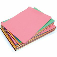 SUGAR PAPER A3 ASSORTED COLOURED PAGES - Pack of 50 Sheets - A3 Size