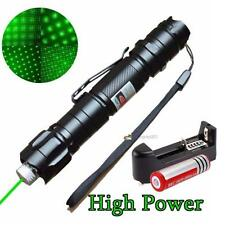 Military 5 Miles 532nm Green Laser Pointer Pen Visible Beam Star Cap + Battery