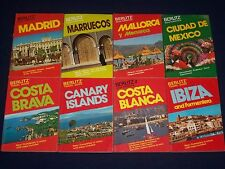SPANISH GUIDE BOOKS LOT OF 29 - SOFTCOVER - GREAT PHOTOS - KD 2020