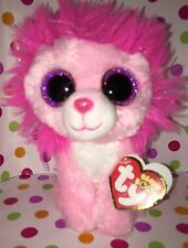 """6"""" TY Beanie Boo Fluffy the Pink Lion Reg Size***RETIRED***"""