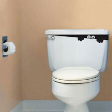 Voyeur Toilet Monster Spirit Washroom Home Decal Funny Vinyl Sticker Wall Decor