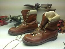 BROWN DISTRESSED LAKE OF THE WOODS LACE UP MOUNTAINEER TRAIL BOSS BOOTS 13 D