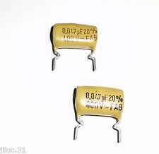 2 CONDENSATEURS NOS MULLARD 0,047uF - 400v pour tonalité guitare