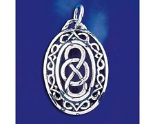 Sterling Silver Celtic Knot Pendant Keltic Artistic Irish Charm Solid 925 Italy