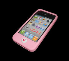 NEW PINK SILICONE RUBBER GEL APPLE IPHONE 4 4S CASE BUY ONE GET ONE FREE