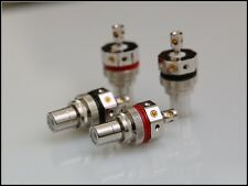 Valab Solder Free Design Ruodium Plate Tellurium Copper RCA Socket -- 2 Pairs