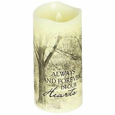 Forever In Our Hearts Scented Flameless Candle (10438) 6 Inches