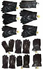 Lot of 12. Men's leather gloves, (XL) Black Unbranded hand warmer winter gloves