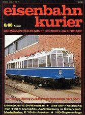 Eisenbahn Kurier EK Heft 8/1986 Einsätze Br 194 + Geschichte Bw Freilassing (B6)