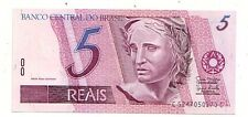 Brasile 5 reais 1997-2011    FDS UNC  Pick 244A i   Lotto 3562