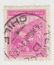 (CH287) 1938 Chile 30c pink mineral spas (G)