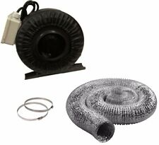 "8"" Inline Fan Duct Hose Combo Exhaust Blower Hydroponic 8 inch hydro NEW"