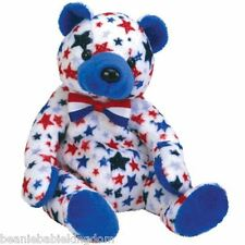 Ty Beanie Baby Babie * BLUE * The USA Teddy Bear Ty Store Excl 04424 - Very Rare
