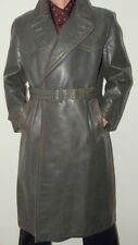 Men's Genuine Post WW2 German Officer Leather Jacket Coat 50 / UK 40 / Med