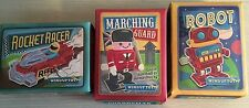 BNIB New Boxed Retro Wind Up Toy x 3 - Robot & Marching Guard & Rocket Racer
