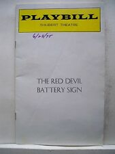 THE RED DEVIL BATTERY SIGN Playbill ANTHONY QUINN / CLAIRE BLOOM Tryout 1975