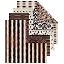 50 x grabados con patrones Vintage Doble Cara Origami Papel-Vintage Marrón - 10cm