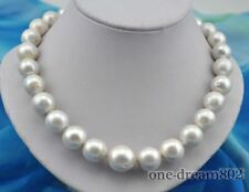 "Rare huge 18""16mm round white reborn keshi pearl necklace"