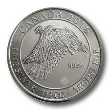 2016 Canada 1.5 oz Silver coin $8 White Falcon BU