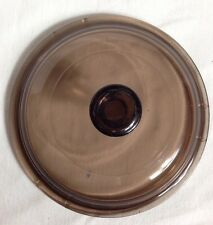 """Amber Replacement Lid PYREX 6.5"""" Round Glass Cover V-1-C Corelle Corning"""