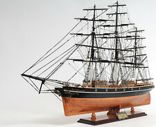 Cutty Sark China Clipper Tall Ship Assembled 34' Built Wooden Model Boat No Sail
