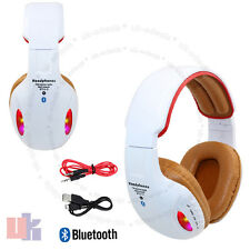 Wireless Bluetooth 4.2 Headset Stereo Orange Headphone With Built in MIC UKED