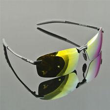Gafas de sol Polarizadas, Lentes Amarillas, Montura de Aleacion, + funda, #509