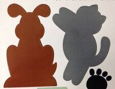 PET PROJECT STICKY DIE-CUT STICKERS(14pc)Dog•Puppy•Cat•Fish•Paw Prints•Doghouse•