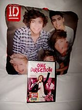1D One Direction Group Shot Multicolor Decorative Pillow & New DVD FREE Shipping