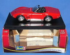 1969 CORVETTE CONVERTIBLE RED----1:18 SCALE REVELL DIECAST IN BOX