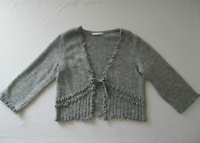 SUPERBE GILET ARMAND THIERY TAILLE 42 FR / T3 COMME NEUF GRIS LAINE MODE FEMME