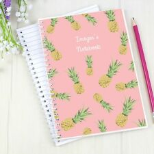 Personalised Pineapple A5 Notebook Girls Womens Her Back To School Sisters Mums