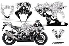 AMR Racing Graphic Kit Wrap Part Suzuki GSXR 1000 Street Bike 05-06 REAPER WHITE